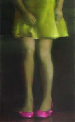 From the series Butterfly Cought     Oil on canvas   105x65cm   2006   By Tiina Heiska