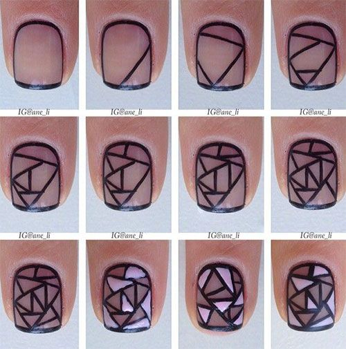 15 + Easy & Step By Step New Nail Art Tutorials For Beginners & Learners 2014: