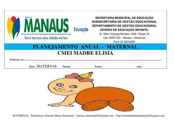 Plano anual maternal  2011   simone drumond