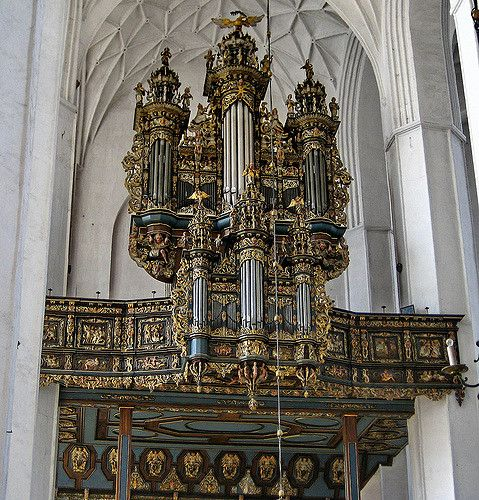 Pipe Organ in St. Mary's Cathedral in Gdansk Poland
