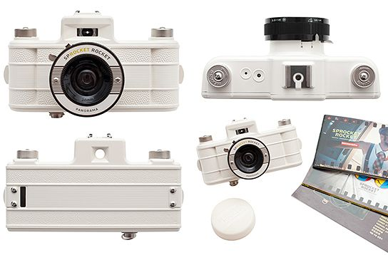 My super cool Sprocket Rocket, in a very chic white. ;P #sprocket #photography #camera #film #panorama