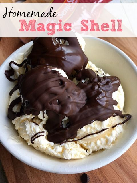 Homemade Magic Shell | Homemade Magic Shell, Shells and Homemade