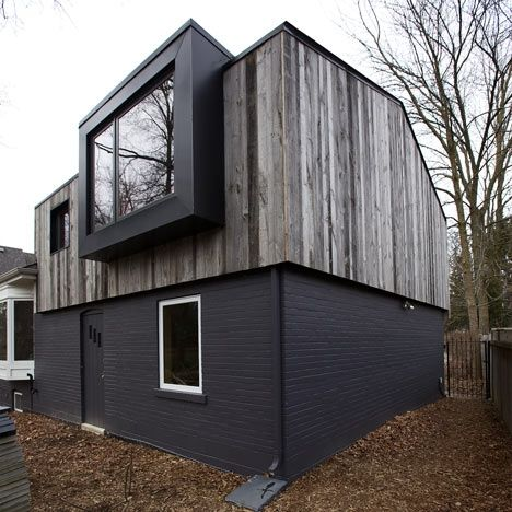 Eden House by The Practice of Everyday Design.  I love the forms within forms and contrast of materials.  Plus I seem to be digging darker colors and weathered wood these days.