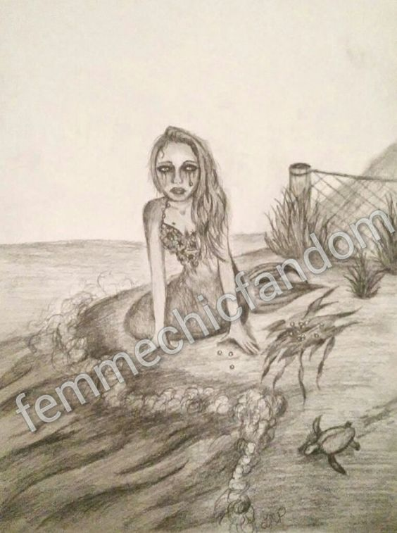 Hey, I found this really awesome Etsy listing at https://www.etsy.com/listing/221684654/original-mermaid-pencil-drawing-your