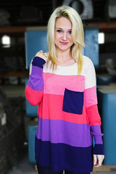 Crazy, Stupid, Love Sweater {Coral/Plum}