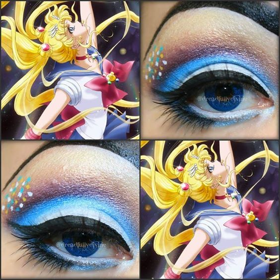 Sailor Moon eye makeup