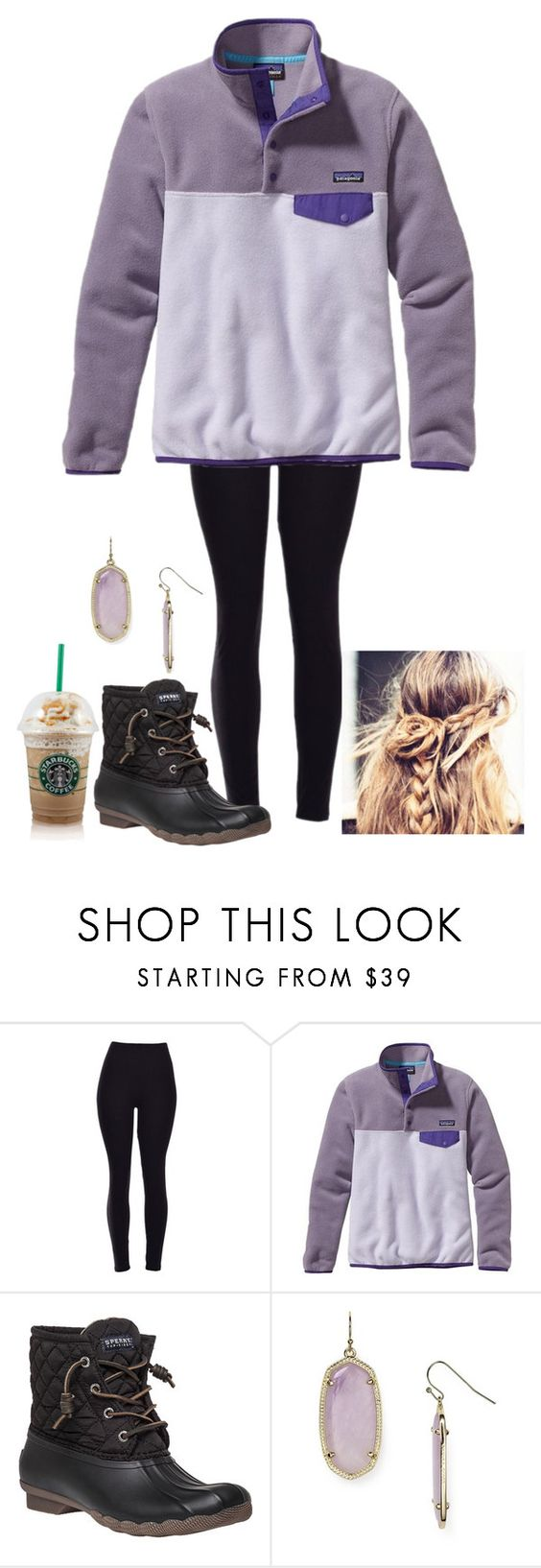 """Patagonia"" by madisonelizabethmcguire ❤ liked on Polyvore featuring Patagonia, Sperry Top-Sider, Kendra Scott, women's clothing, women's fashion, women, female, woman, misses and juniors"