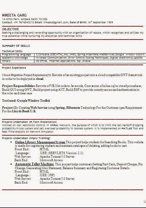 Wimax Engineer Sample Resume Standard Resume Template Sample Templateexcellent Curriculum Vitae .