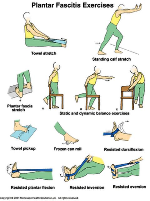 Sure hope I never need these exercises again...ouch!!! Plantar Fasciitis Exercises