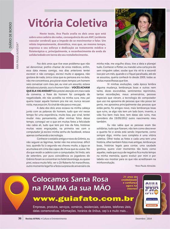 MINHA COLUNA NA REVISTA AFINAL