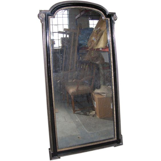 Antiques on 5 - Napoleon III Ebonizied mirror - 1stdibs ❤ liked on Polyvore featuring home, home decor, mirrors, fillers, furniture, decor, antique home decor and antique mirrors