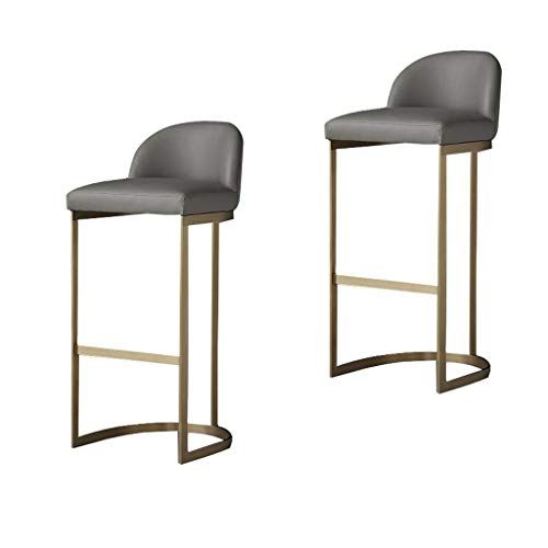 Bar Stool Modern And Stylish Bar Chair High Bar Stool 2 Set With Backrest And Pedal Metal For Breakfast Bar Cou Modern Bar Stools High Bar Stools Stylish Bars