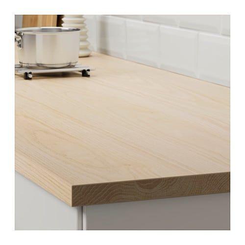 Ekbacken Plan De Travail Sur Mesure Decor Frene Stratifie 63 6 125x2 8 Cm Plan De Travail Cuisine Ikea Ikea
