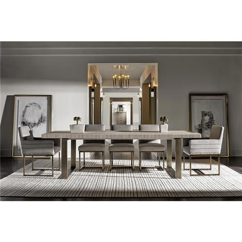 John Modern Classic Ivory Wood Top Bronze Metal Extendable Dining Table 84 106 Rectangle Dining Room Set Rectangular Dining Table Dining Room Table Decor Bronze decorations for dining room