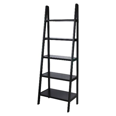72 5 Shelf Ladder Bookcase Ladder Bookcase White Bookcase