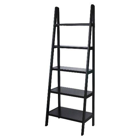 72 5 Shelf Ladder Bookcase Ladder Bookcase White Bookcase