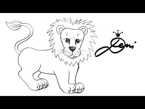 Löwe Schnell Zeichnen Lernen Tiere Zoo How To Draw A Lion