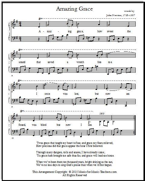 Amazing Grace Free Sheet Music