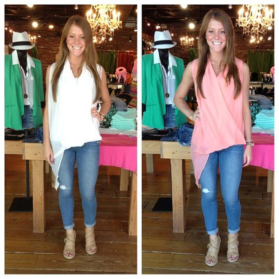 Assymetrical top from Gold Hawk in Pink and cream.  Available at SteamRoller Blues