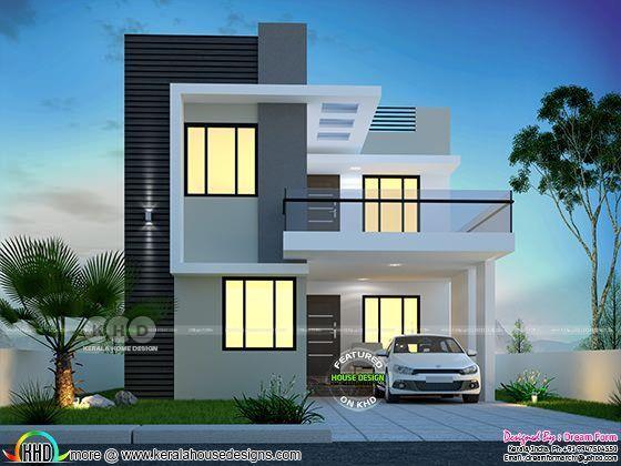 3 Bedroom 1650 Sq Ft Modern Home Design Kerala House Design Modern Exterior House Designs Bungalow House Design