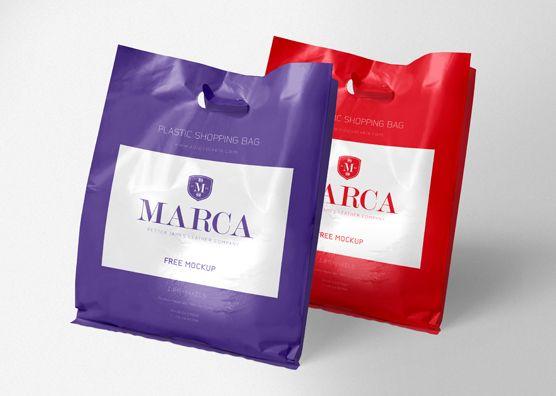 Download Free Plastic Bag Mockup Zippypixels Desain Logo Desain Periklanan