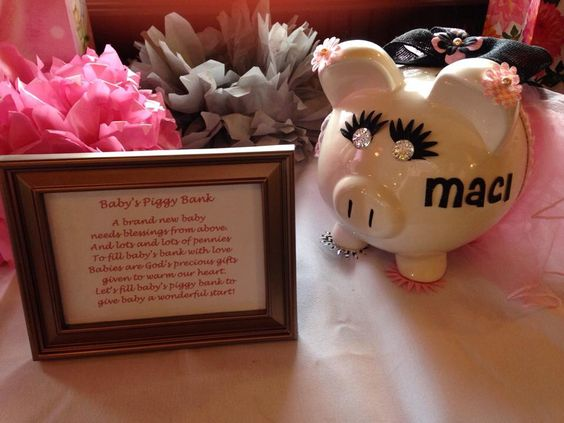 Piggy Bank Baby Shower Shower Maci With Love