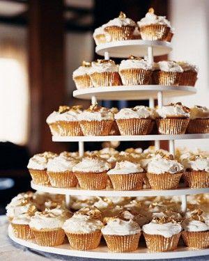Gold and White Wedding. Wedding Reception Dessert Buffet ...
