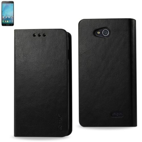 Reiko Flip Case With Card Holder For Lg Optimus L90 D405 Black