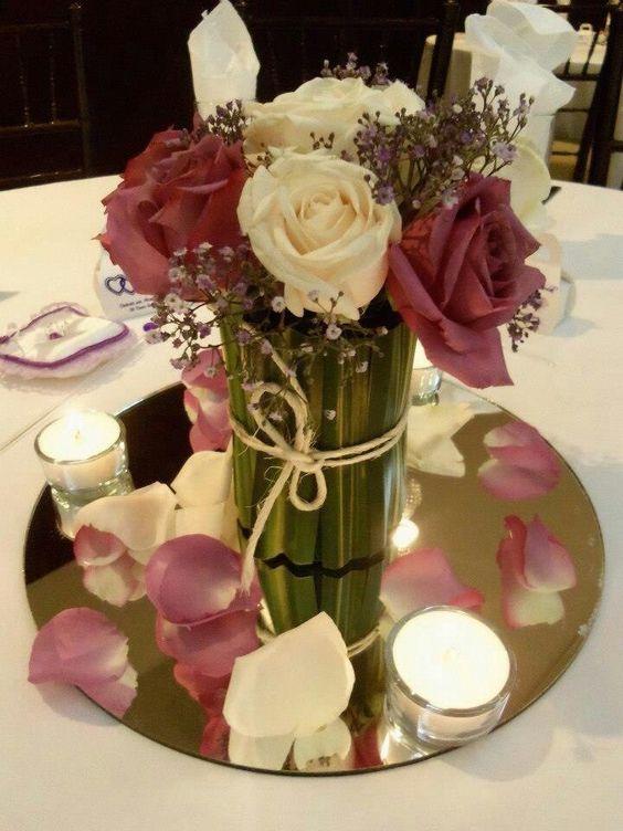 Centro de mesa vintage para despedida de soltera bridal for Arreglos florales para boda en jardin
