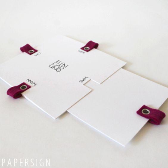Einladungen - EINLADUNG | mit einsteckkarten | blanko - ein Designerstück von papersign bei DaWanda