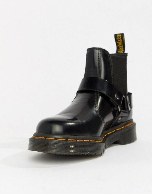 Dr Martens Wincox Black Leather Harness