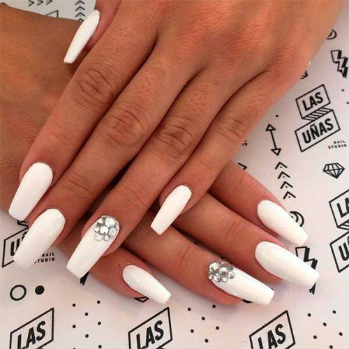 120 Best Coffin Nails Ideas That Suit Everyone In 2020 Nails Design With Rhinestones Shiny Nails Designs Rhinestone Nails