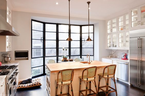 Kitchen in the former Manhattan townhome of Billy Joel and Katie Lee Joel.