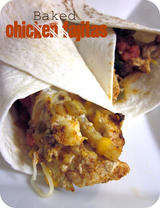 Baked Chicken Fajitas Recipe   (or could use slow cooker)