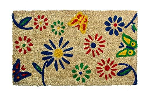 Flowers Doormat Non Slip Rubber Backing Indoor Outdoor Na Https Www Amazon Com Dp B07hm29ldx Ref Cm Sw R Pi Dp U X Outdoor Door Mat Door Mat Coir Doormat