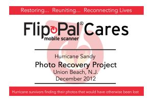 Press coverage of Flip-Pal Cares outreach to Superstorm Sandy