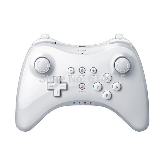 White Extension Wireless Pro Controller for Nintendo Wii U ...