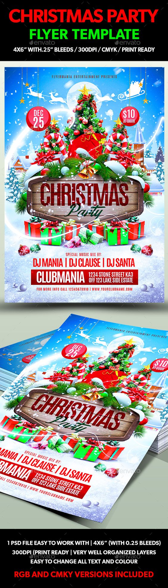 christmas party flyer template christmas parties flyer template christmas party flyer template psd design xmas graphicriver