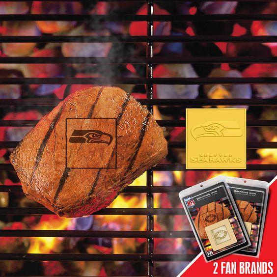 Seattle Seahawks NFL Fan Brands Grill Logo(2 Pack)