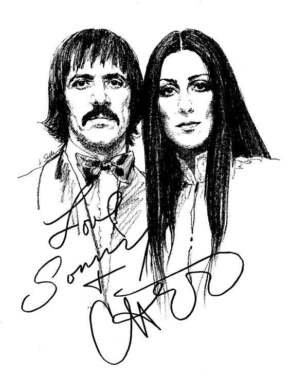 Sonny & Cher illustration