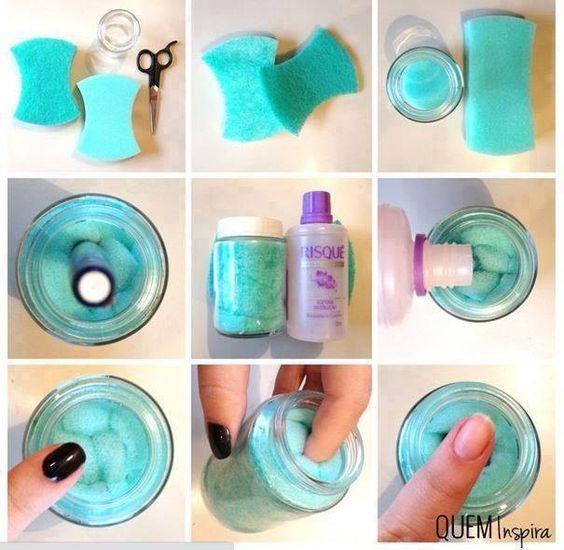 Resultado de imagem para diy nail polish remover