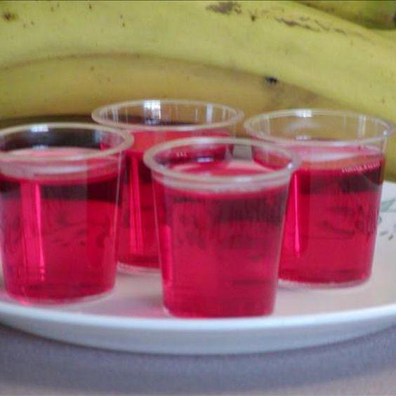 Strawberry, Banana, Rum Jello Shots Recipe