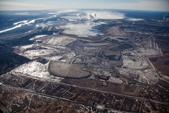 New aerial pictures of Alberta tar sands mines show Scope of Eerie Destruction