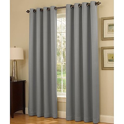 Insola Dorian Thermalayer Grommet Top 95-Inch Window Curtain Panel ...