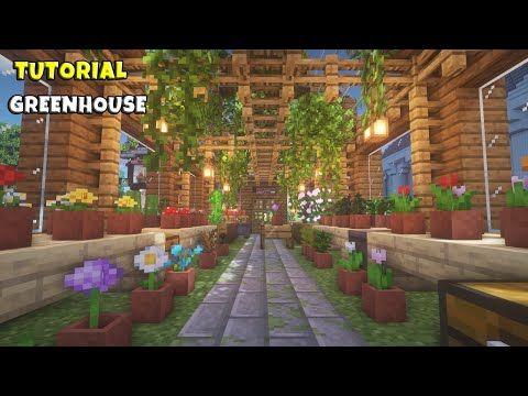 Minecraft Greenhouse Tutorial Medieval Town 26 Youtube Minecraft Greenhouse Minecraft Garden Minecraft Storage