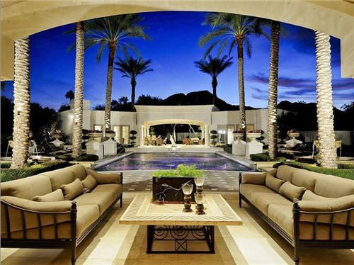 Outdoor living swimming pool and cabana luxury for Luxury outdoor living