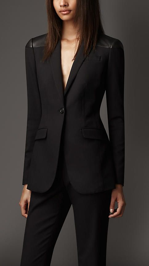 Tailored Leather Panel Jacket | Burberry