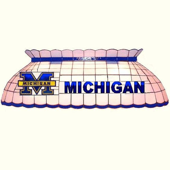 Michigan Wolverine Pool Table Lamp Michigan Wolverines Gifts Michigan Wolverines Michigan