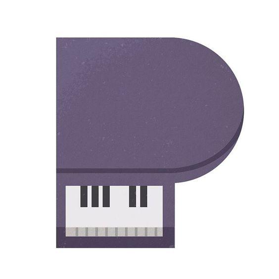 P  #piano #pianos #abc #type #typography #alphabet #typographic #letter #36daysoftype #adobephotoshop #adobeillustrator #flatdesign #vector #vectorart #adobe