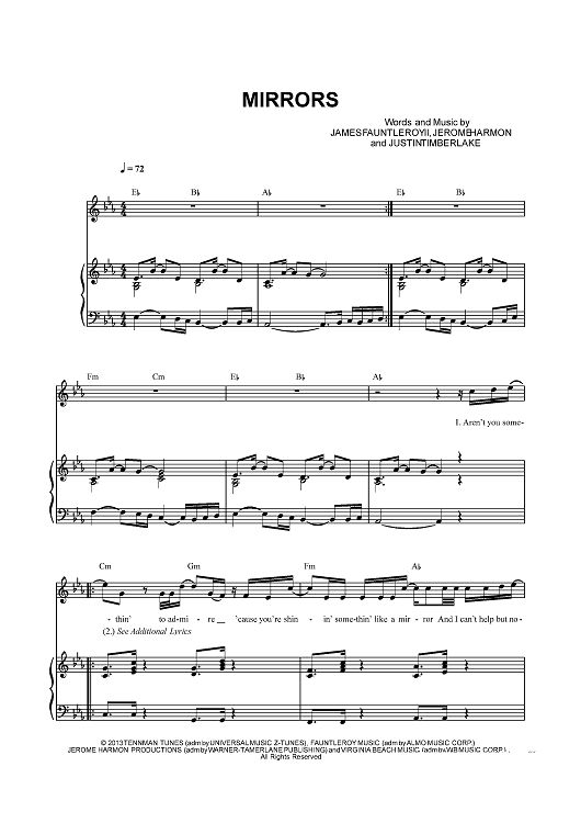 smoke and mirrors piano sheet music pdf
